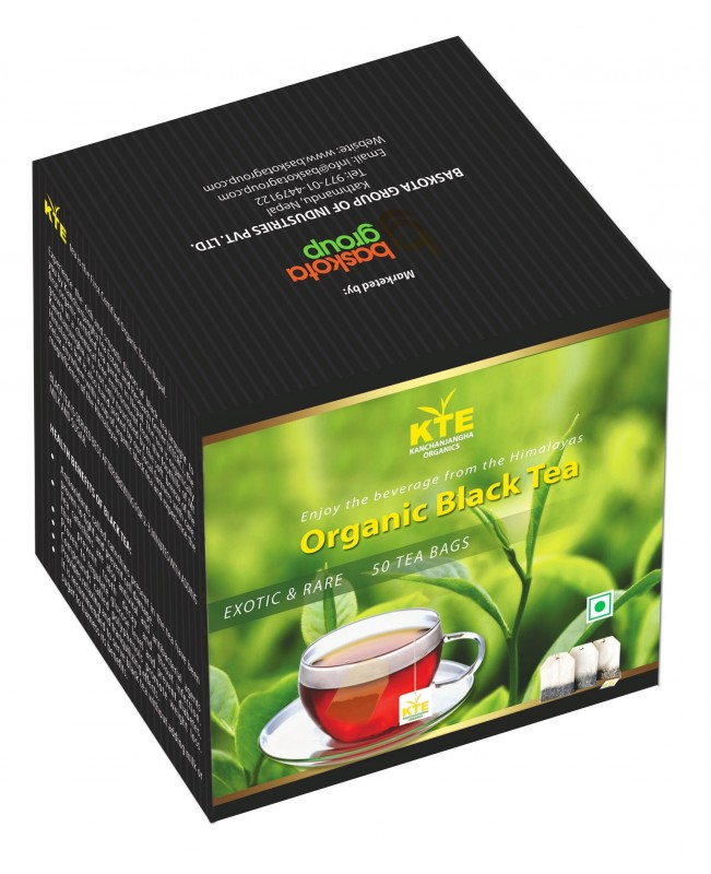 Black 50/1 Teabags
